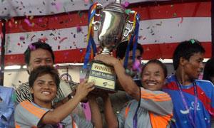 राष्ट्रिय महिला फुटबल उपाधि पुनः एपीएफलाई
