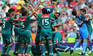 ओलम्पिकमा फुटबलको स्वर्ण मेक्सीकोलाई