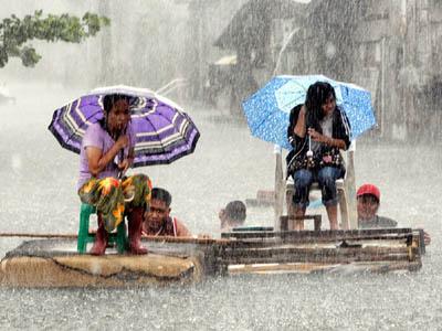 फिलिपिन्समा बाढीबाट पाँच हजार विस्थापित