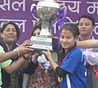 राष्ट्रिय महिला फुटबलको उपाधि नेपाल प्रहरीलाई