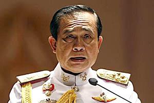 थाई राजाद्वारा सैनिक प्रमुखलाई सरकारको नेतृत्व