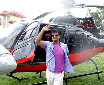 राजेश हमाल हेलिकप्टर चढेर नाईको बिहेमा