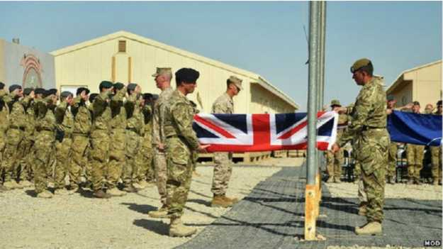 बेलायती  सैनिक अफगानिस्तानबाट फिर्ता