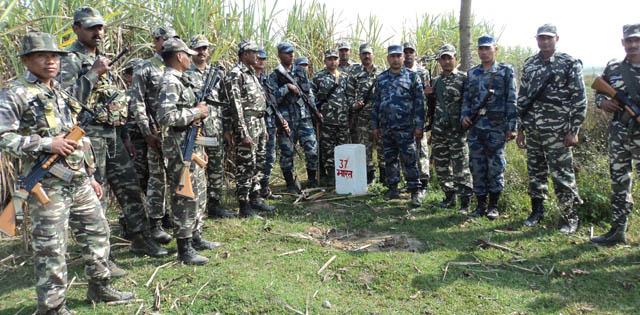 सीमामा सशस्त्र र एसएसबीको संयुक्त गस्ती