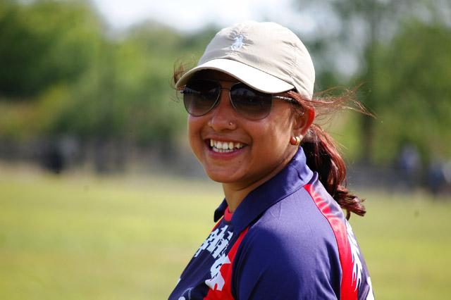 नेपाली क्रिकेट खेलाडी अमेरिकामा खेल्दै