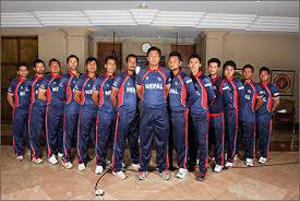राष्ट्रिय क्रिकेट टोली भारत प्रस्थान