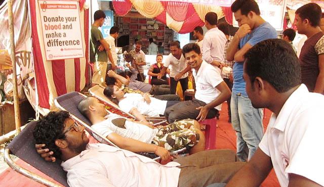 सद्भाव फैलाउन बारामा रक्तदान