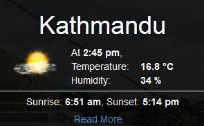 काठमाडौँ उपत्यकाको तापक्रम ०.९ मा झर्यो