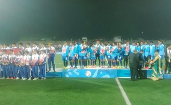 नेपाली महिला फुटबल टोली फाइनलमा पराजित