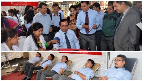 एभरेष्ट बैंकको आयोजनामा रक्तदान