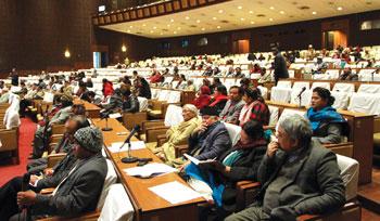 व्यवस्थापिका–संसद्: जुँगाको लडाइँले बन्धक