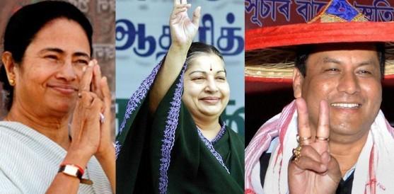 भारत विधानसभा निर्वाचन: असममा बिजेपी, प.बंगालमा ममता, तमिलनाडुमा जयललिता