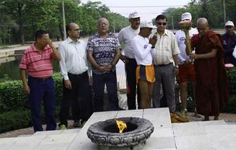 लुम्बिनीको शान्तिदीप सगरमाथा आधार शिविर पुर्याइने