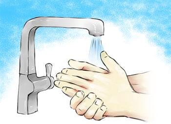 हात नधोए हानि