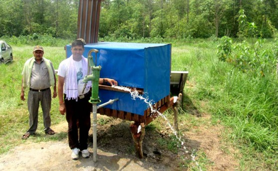 पाटेबाघलाई पानी ख्वाउन सोलार पम्प